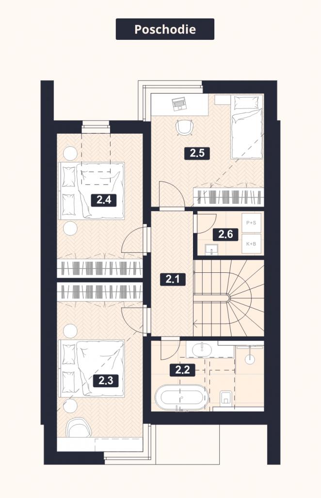 Radový Dom –Poschodie